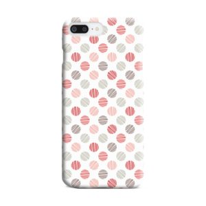 Pink Polka Dots Pattern iPhone 8 Plus Case Cover