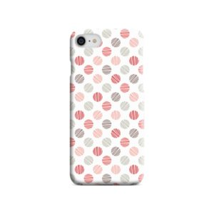Pink Polka Dots Pattern iPhone SE Case Cover