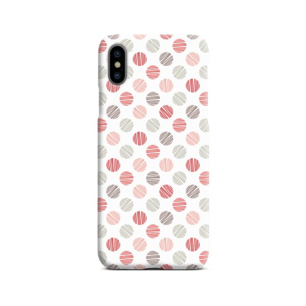 Pink Polka Dots Pattern iPhone X / XS Case Cover
