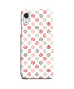 Pink Polka Dots Pattern iPhone XR Case Cover