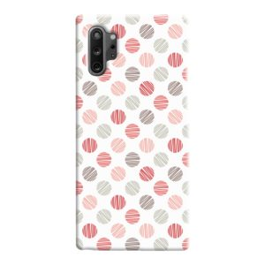 Pink Polka Dots Pattern Samsung Galaxy Note 10 Case