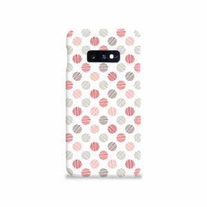 Pink Polka Dots Pattern Samsung Galaxy S10e Case Cover