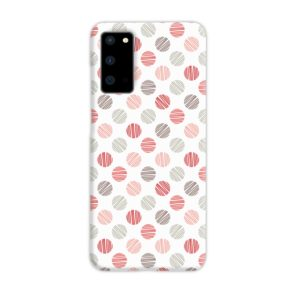 Pink Polka Dots Pattern Samsung Galaxy S20 Case Cover
