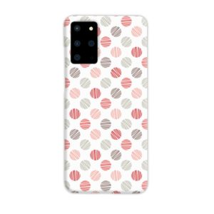 Pink Polka Dots Pattern Samsung Galaxy S20 Plus Case