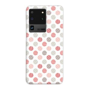Pink Polka Dots Pattern Samsung Galaxy S20 Ultra Case
