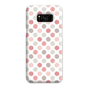 Pink Polka Dots Pattern Samsung Galaxy S8 Plus Case
