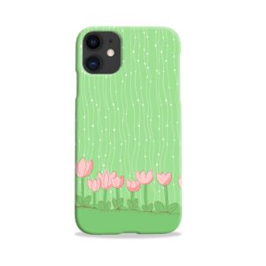 Pink Tulip Flowers iPhone 11 Case