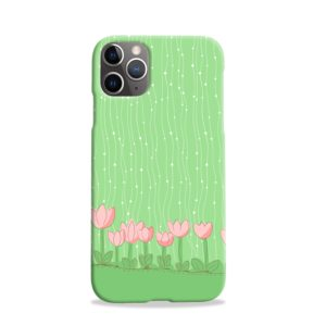 Pink Tulip Flowers iPhone 11 Pro Case