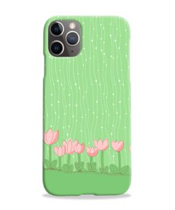 Pink Tulip Flowers iPhone 11 Pro Max Case Cover