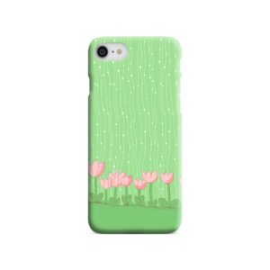 Pink Tulip Flowers iPhone 8 Case
