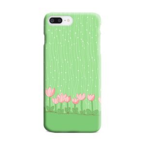 Pink Tulip Flowers iPhone 8 Plus Case