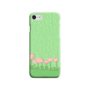 Pink Tulip Flowers iPhone SE Case