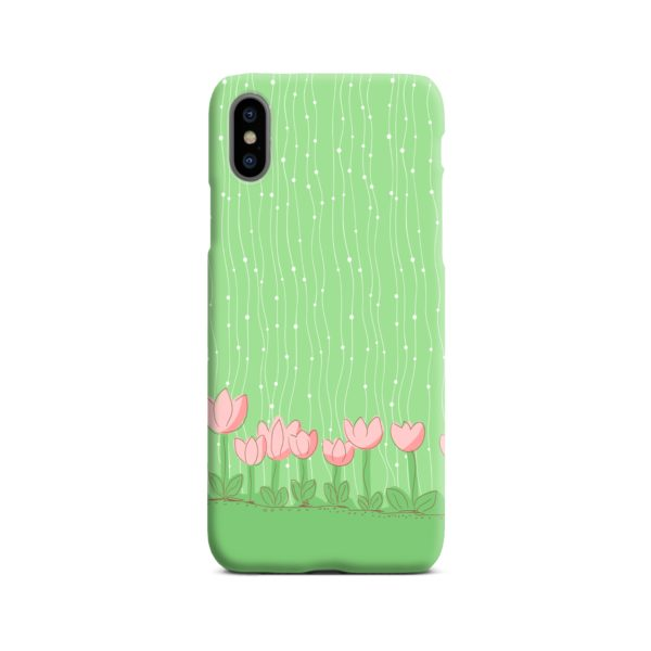 Pink Tulip Flowers iPhone X / XS Case Cover