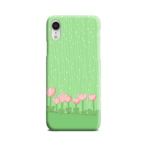 Pink Tulip Flowers iPhone XR Case Cover