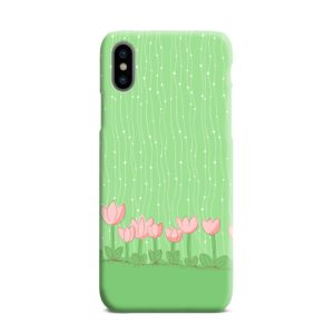 Pink Tulip Flowers iPhone XS Max Case