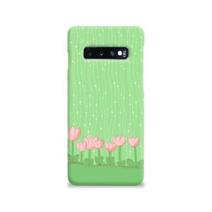 Pink Tulip Flowers Samsung Galaxy S10 Case Cover