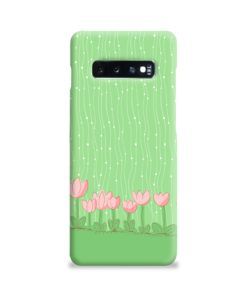 Pink Tulip Flowers Samsung Galaxy S10 Plus Case Cover