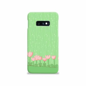 Pink Tulip Flowers Samsung Galaxy S10e Case