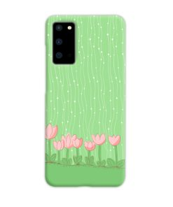 Pink Tulip Flowers Samsung Galaxy S20 Case Cover