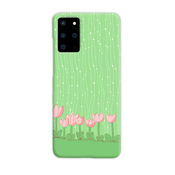 Pink Tulip Flowers Samsung Galaxy S20 Plus Case Cover