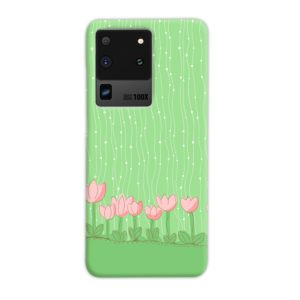 Pink Tulip Flowers Samsung Galaxy S20 Ultra Case Cover