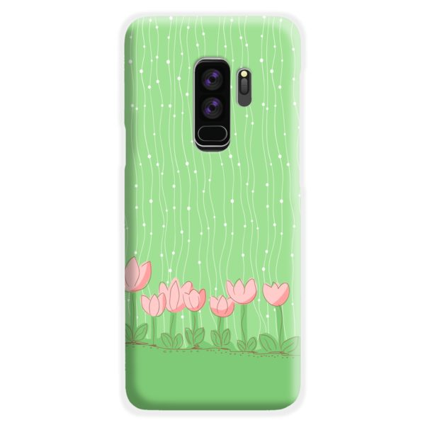 Pink Tulip Flowers Samsung Galaxy S9 Plus Case Cover
