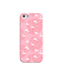 White Flamingos and Pink Leaf iPhone 5 Case Cover