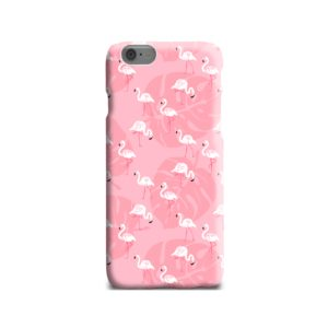 White Flamingos and Pink Leaf iPhone 6 Case Cover