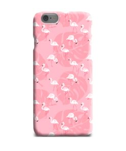 White Flamingos and Pink Leaf iPhone 6 Plus Case