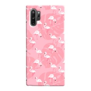 White Flamingos and Pink Leaf Samsung Galaxy Note 10 Case Cover