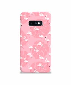 White Flamingos and Pink Leaf Samsung Galaxy S10e Case Cover