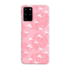 White Flamingos and Pink Leaf Samsung Galaxy S20 Plus Case