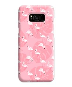 White Flamingos and Pink Leaf Samsung Galaxy S8 Plus Case Cover