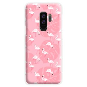 White Flamingos and Pink Leaf Samsung Galaxy S9 Plus Case Cover