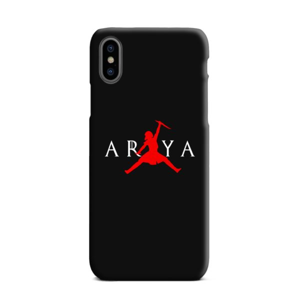 Air Arya Stark Jordan Logo iPhone XS Max Case
