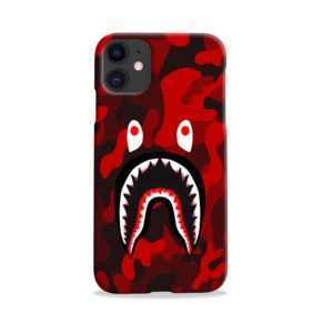 Camo Red Bape Shark for iPhone 11 Case
