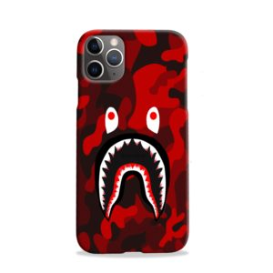 Camo Red Bape Shark for iPhone 11 Pro Case
