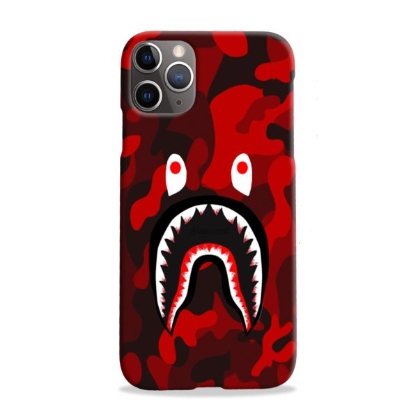Camo Red Bape Shark for iPhone 11 Pro Max Case Cover