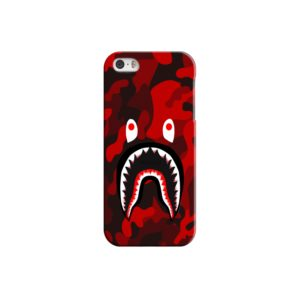 Camo Red Bape Shark for iPhone 5 Case
