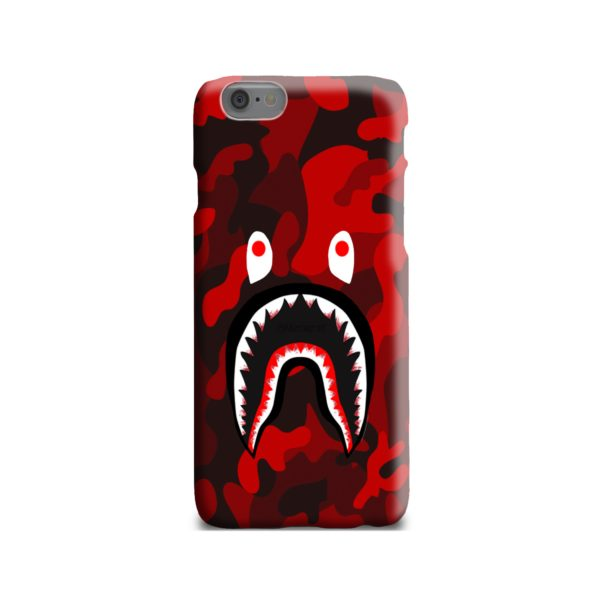 Camo Red Bape Shark for iPhone 6 Case