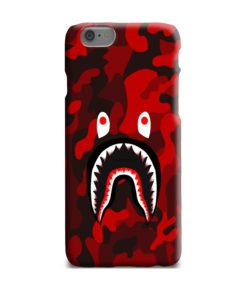 Camo Red Bape Shark for iPhone 6 Plus Case Cover