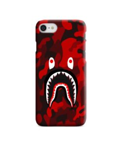 Camo Red Bape Shark for iPhone 7 Case