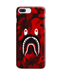 Camo Red Bape Shark for iPhone 7 Plus Case Cover
