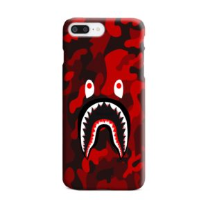 Camo Red Bape Shark for iPhone 8 Plus Case