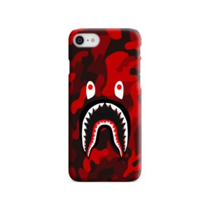 Camo Red Bape Shark for iPhone SE (2020) Case Cover
