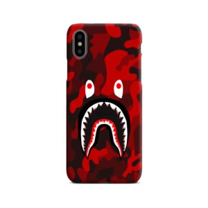 Camo Red Bape Shark for iPhone X / XS Case Cover