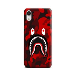 Camo Red Bape Shark for iPhone XR Case