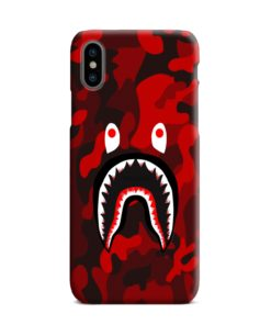 Camo Red Bape Shark for iPhone XS Max Case Cover