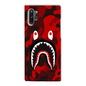 Camo Red Bape Shark for Samsung Galaxy Note 10 Case Cover