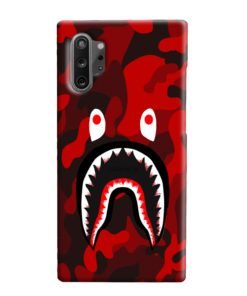 Camo Red Bape Shark for Samsung Galaxy Note 10 Plus Case Cover